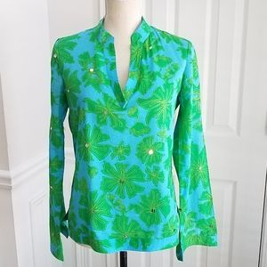Tory Burch Long Sleeve Pullover Tunic Blouse